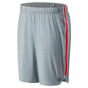 Men`s Printed Rally 9 Inch Tennis Short Steel