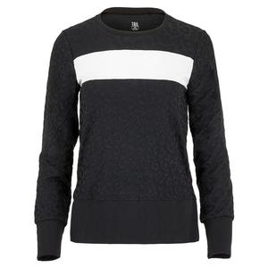 Women`s Alayah Long Sleeve Tennis Top Onyx Leopard