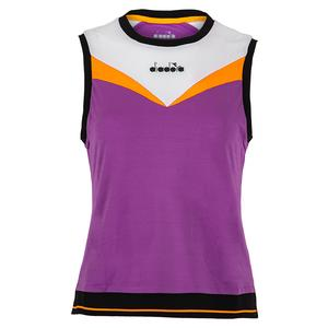 Women`s Clay Tennis Tank Violet Zircon