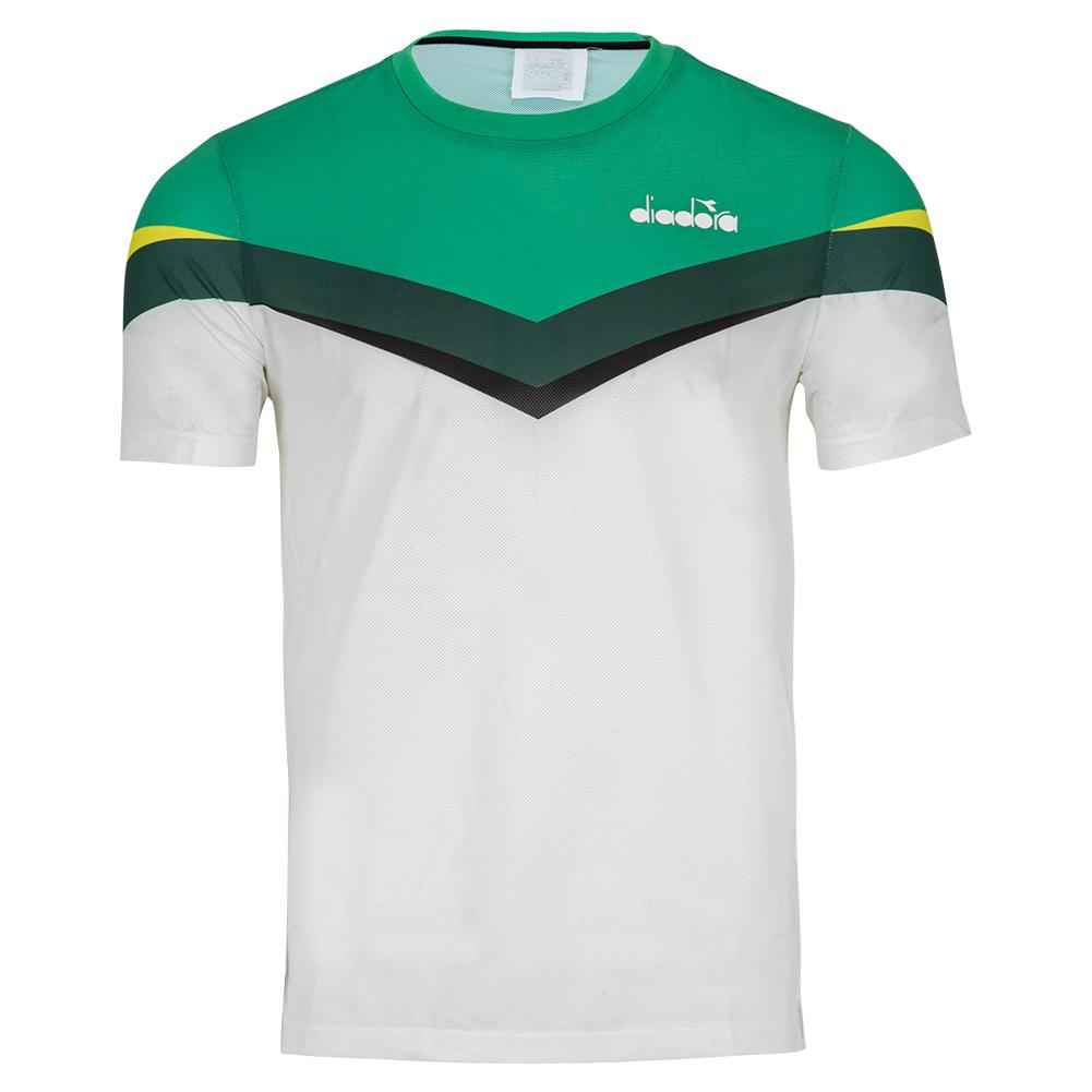 Men's Clay Tennis Top Holly Green And White