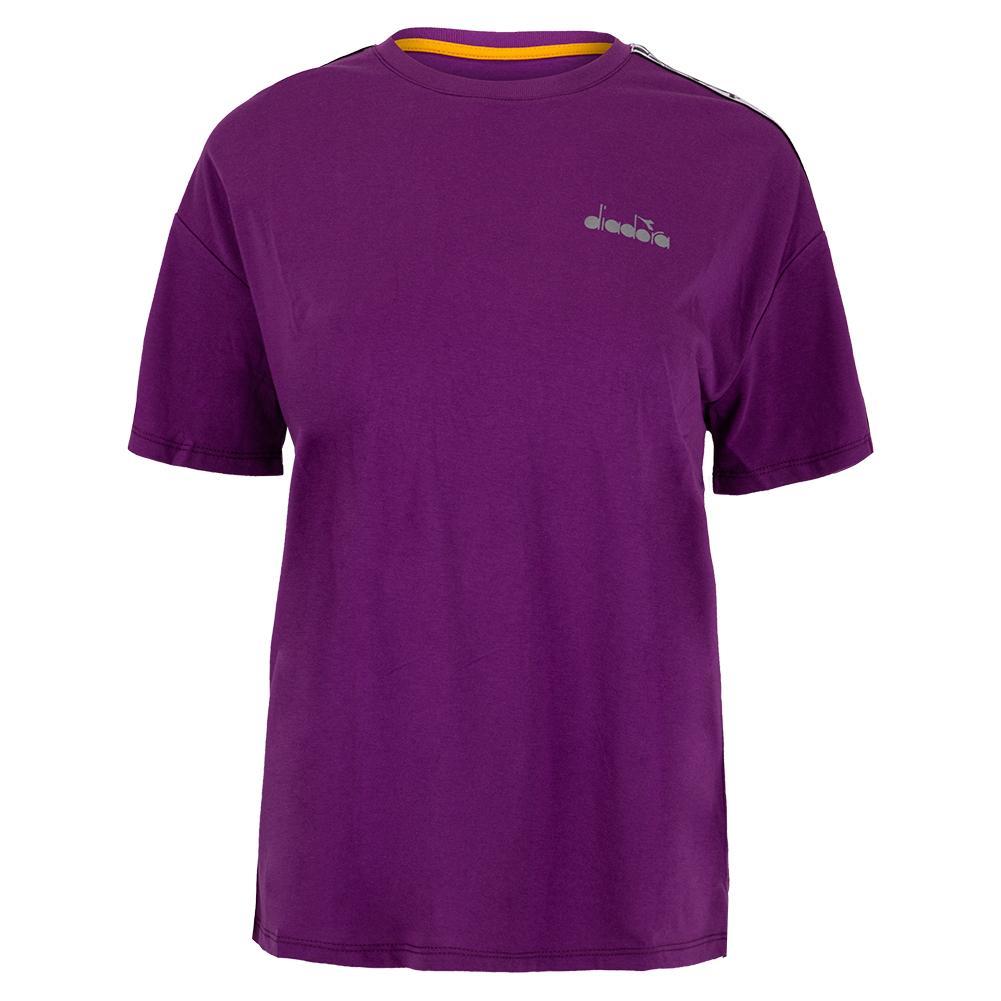 Women's Short Sleeve Tennis Tee Violet Zircon