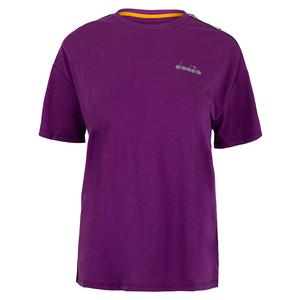 Women`s Short Sleeve Tennis Tee Violet Zircon