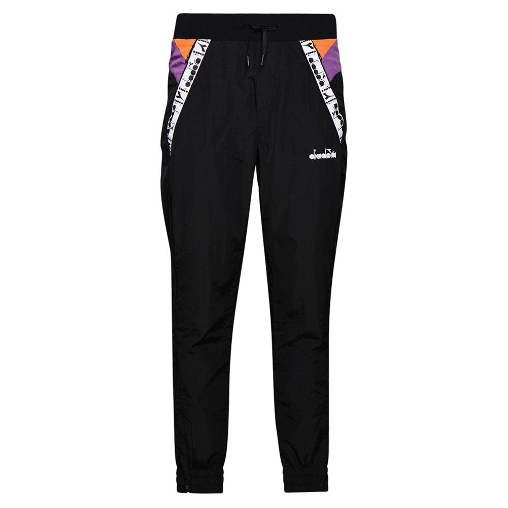 Women's Tennis Pant Black And Hyacinth Violet