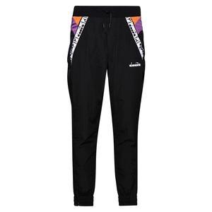 Women`s Tennis Pant Black and Hyacinth Violet
