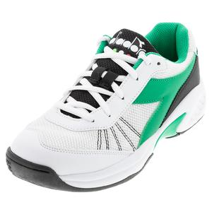 Juniors` S Challenge 3 Tennis Shoes White and Holly Green
