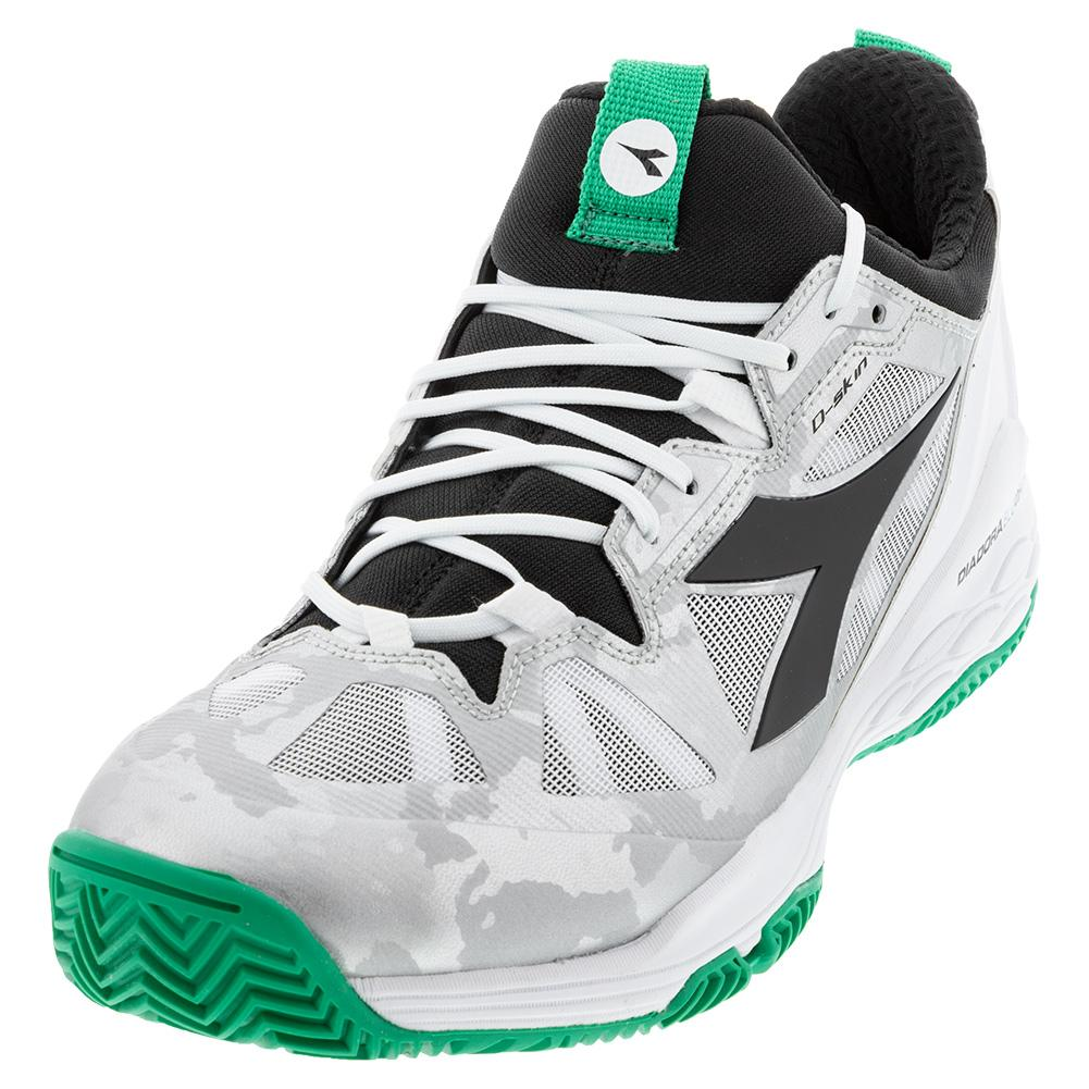 Clay Tennis Shoes White and Holly Green