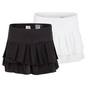 Women`s Wavy Pleat Tier Tennis Skort
