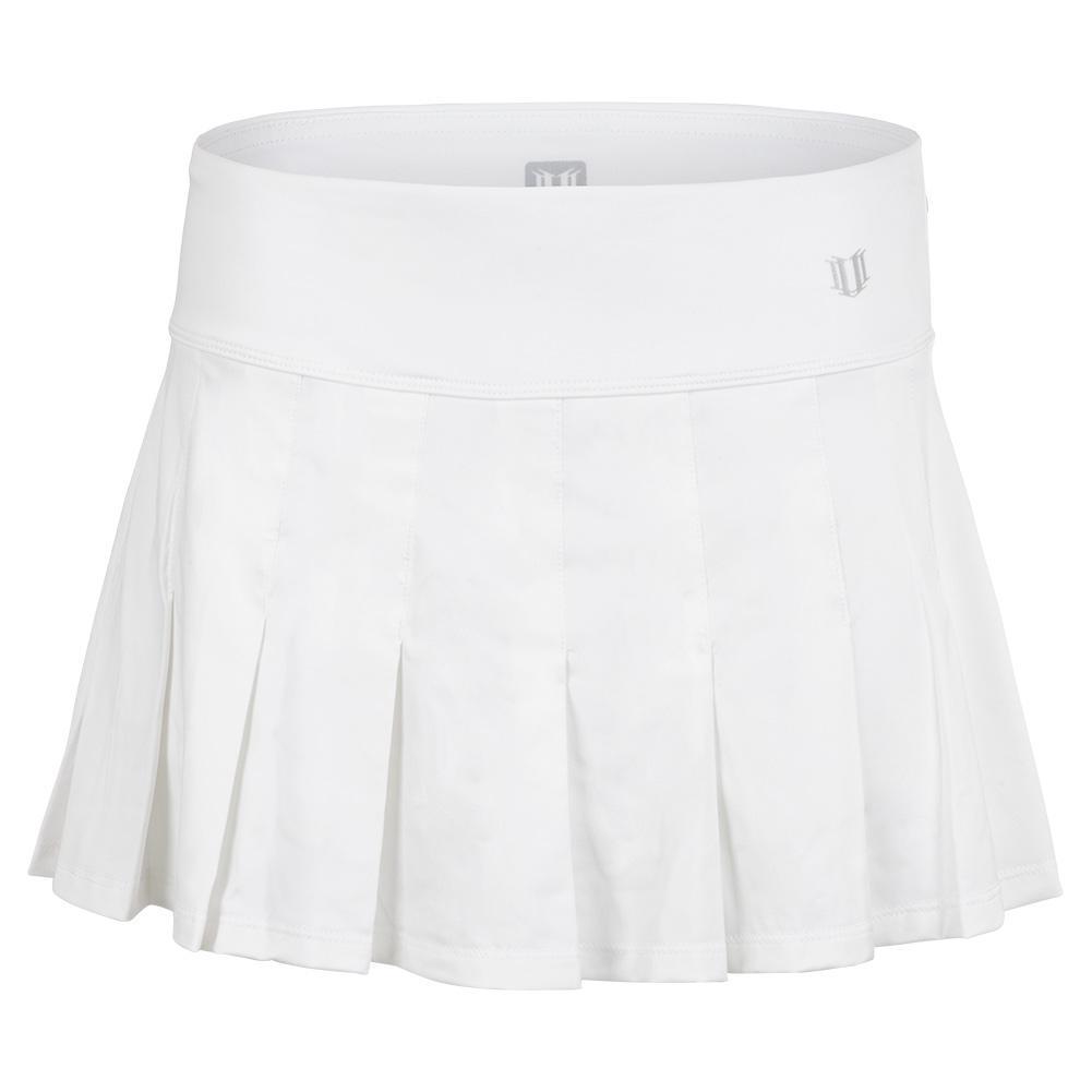 Women's Flutter 13 Inch Tennis Skort White