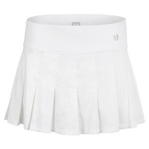 Women`s Flutter 13 Inch Tennis Skort White
