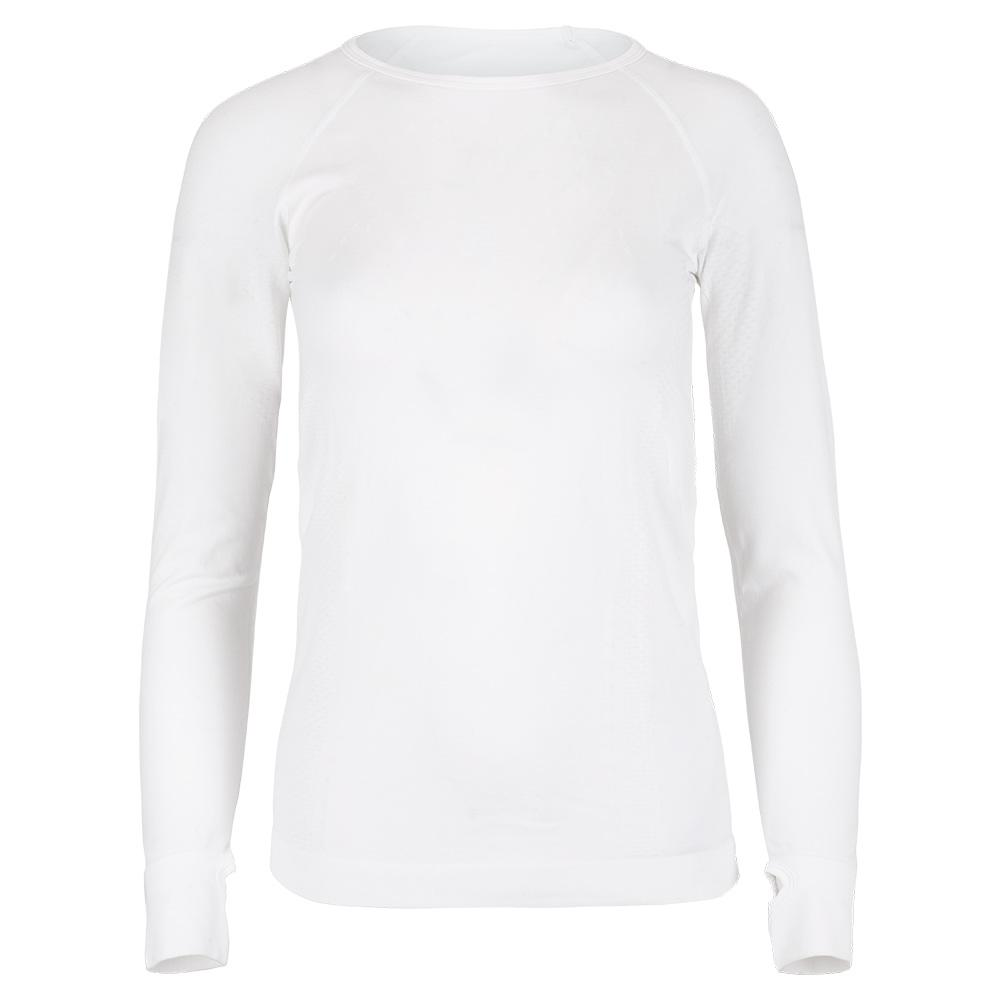 Women's Seamless Absolute Long Sleeve Tennis Top White