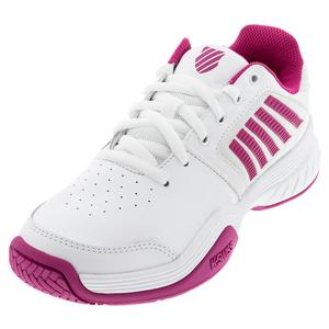 Women`s Court Express Tennis Shoes White and Cactus Flower