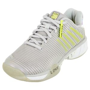 Women`s Hypercourt Express 2 X LiL Tennis Shoes Lunar Rock and Neon Yellow