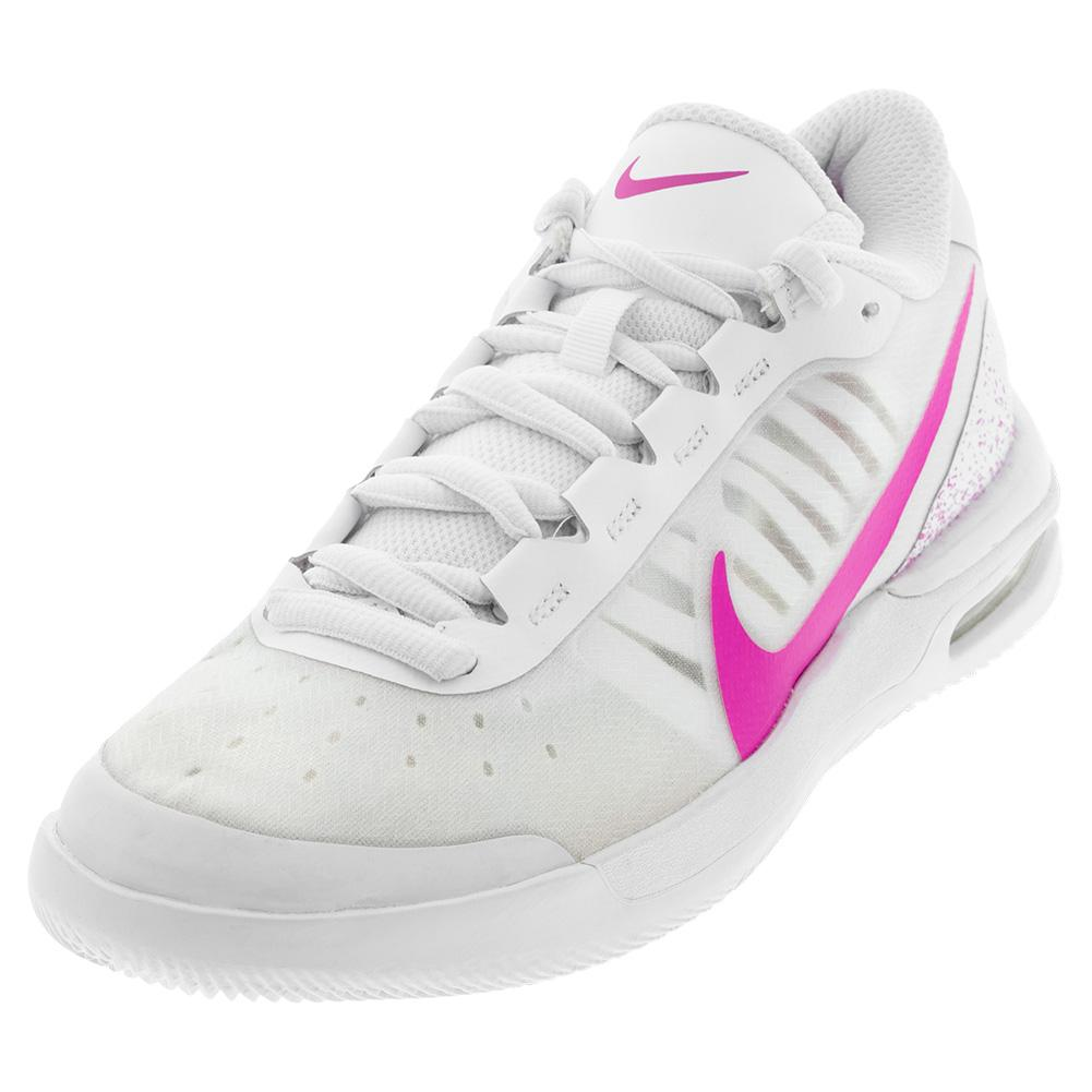 Women's Air Max Vapor Wing Ms Tennis Shoes White And Laser Fuchsia