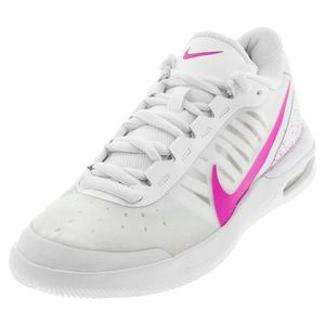 Women`s Air Max Vapor Wing MS Tennis Shoes White and Laser Fuchsia