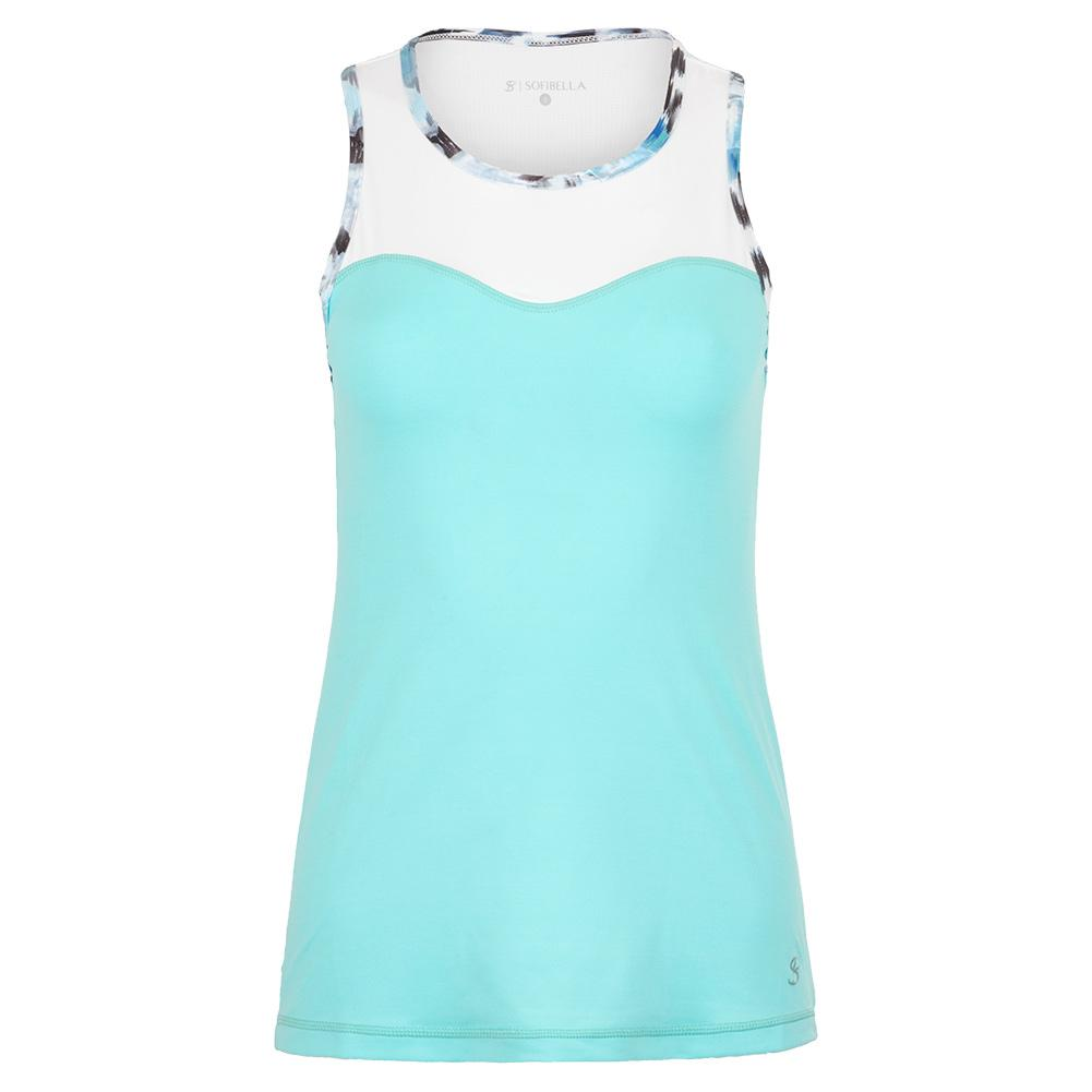 Women's High Neck Tennis Top Air And White
