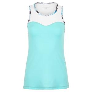 Women`s High Neck Tennis Top Air and White