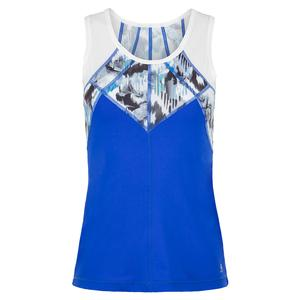 Women`s Full Back Tennis Top Royal Waters and Mineral