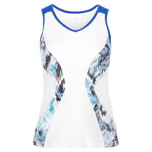 Women`s Tennis Tank Mineral and White