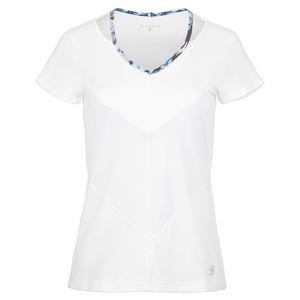 Women`s Short Sleeve Tennis Top White