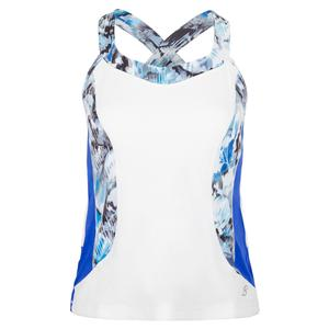 Women`s Tennis Cami White and Royal Waters