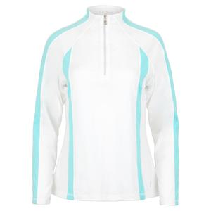 Women`s Long Sleeve Tennis Top White and Air