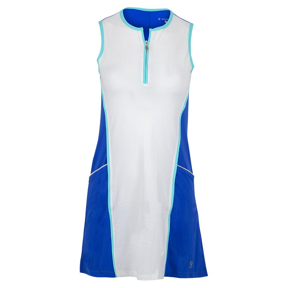 Women's Tennis Dress Royal Waters And White