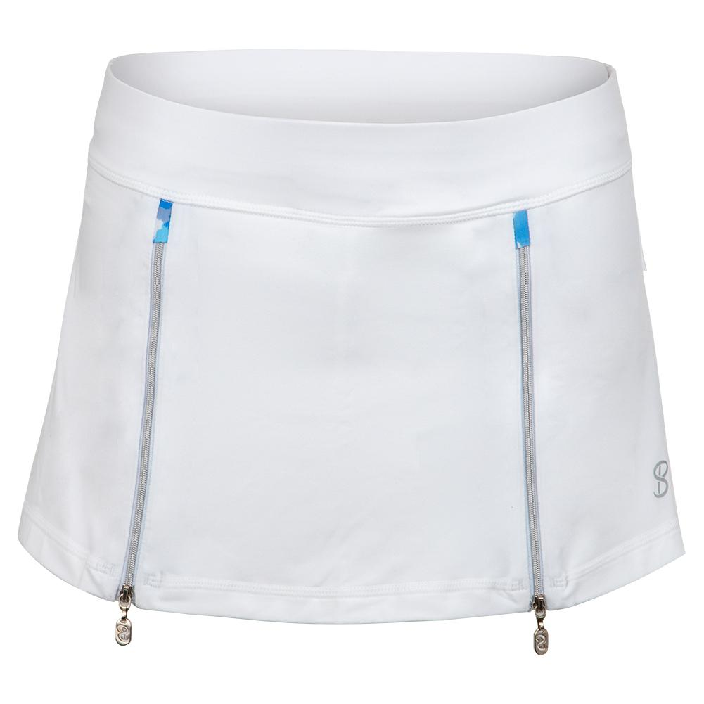 Women's 12 Inch Tennis Skort White And Mineral