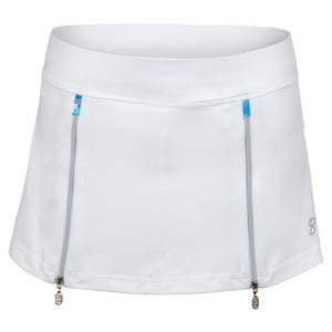 Women`s 12 Inch Tennis Skort White and Mineral