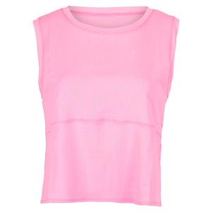 Women`s Saniyah Sleeveless Tennis Top Cotton Candy