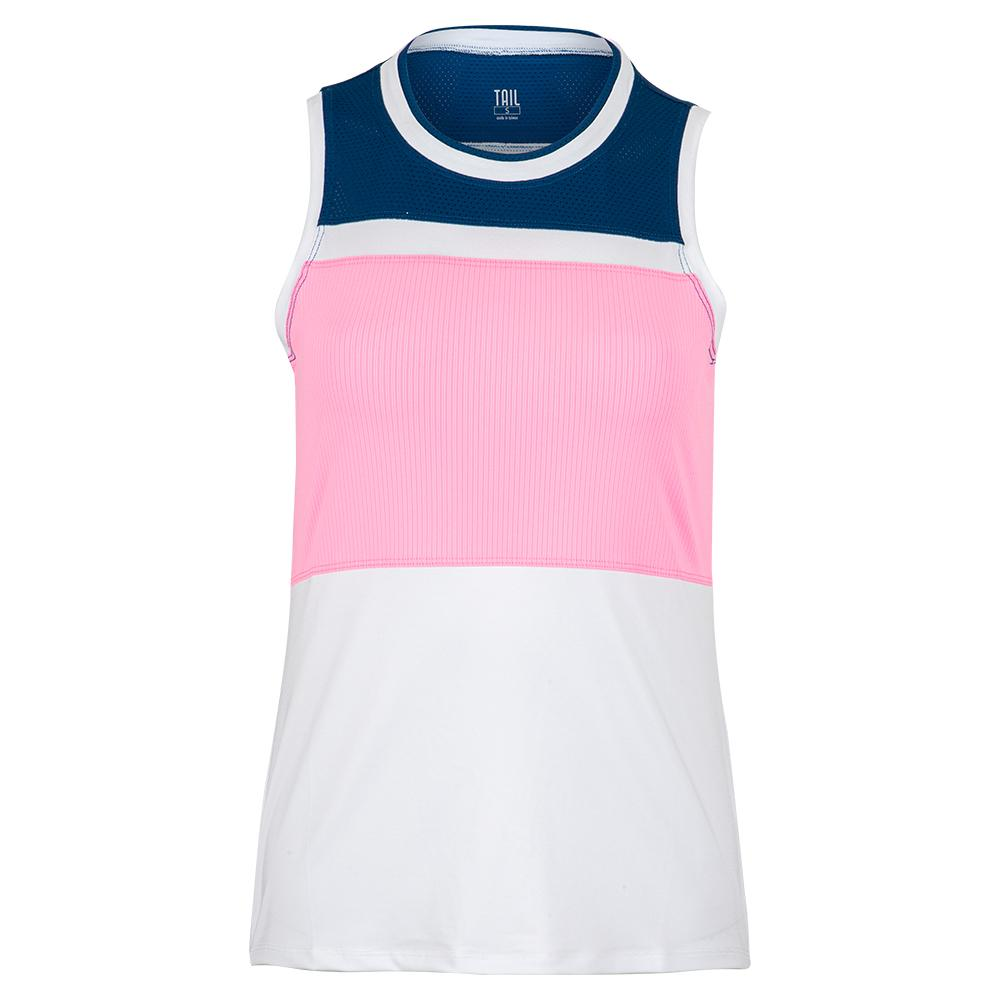 Women's Sue Tennis Tank Chalk And Cotton Candy