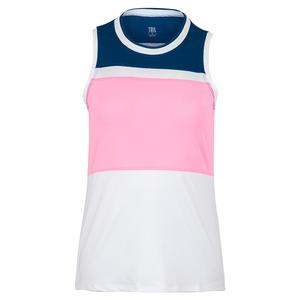 Women`s Sue Tennis Tank Chalk and Cotton Candy