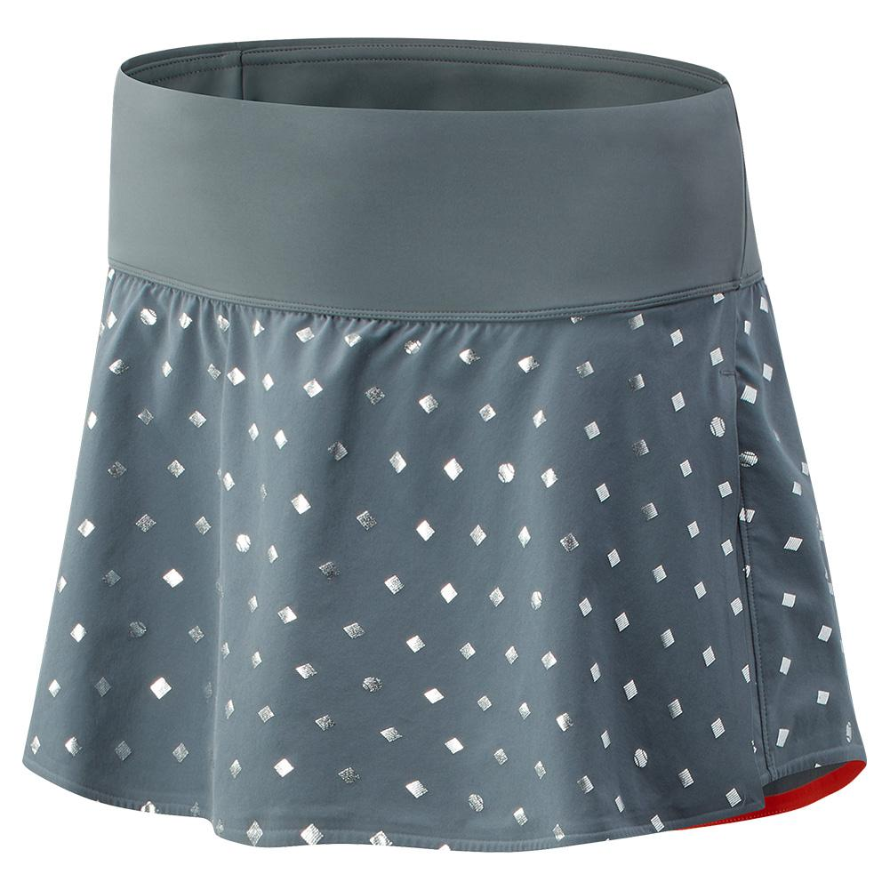 Women's Printed Tournament Tennis Skort Lead