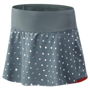 Women`s Printed Tournament Tennis Skort Lead