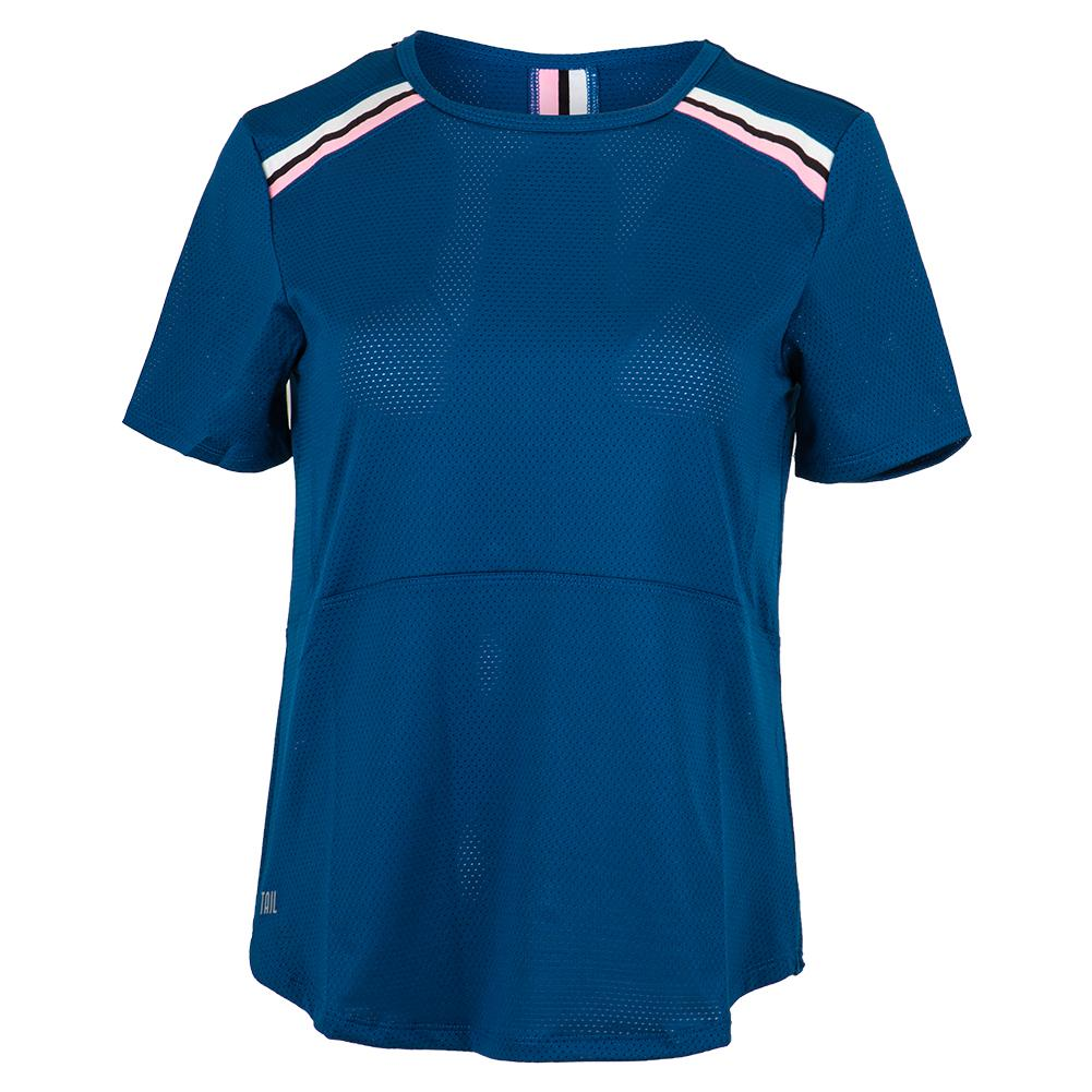 Women's Martha Cap Sleeve Tennis Top Royal
