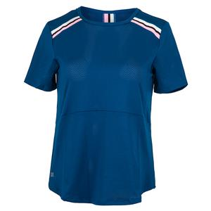 Women`s Martha Cap Sleeve Tennis Top Royal