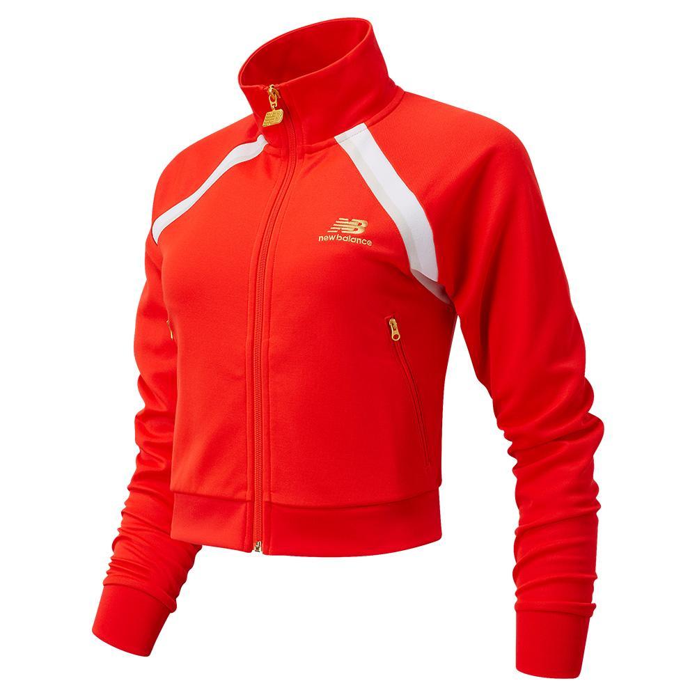 Women's Podium Tennis Track Jacket Neo Flame