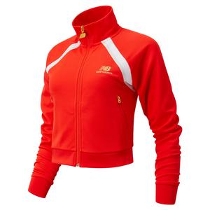 Women`s Podium Tennis Track Jacket Neo Flame