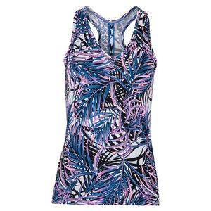 Women`s Alissa Tie Back Tennis Tank Palm Isle Print