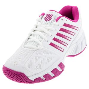 Juniors` Bigshot Light 3 Tennis Shoes White and Cactus Flower