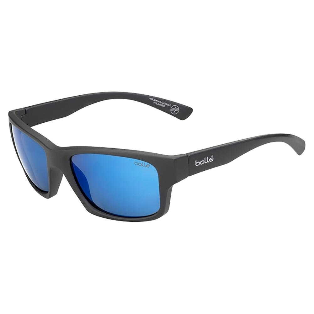 Holman Floatable Sunglasses Matte Black And Hd Polarized Offshore Blue