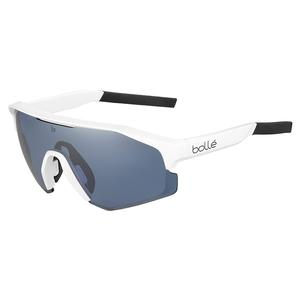 Lightshifter Tennis Sunglasses Matte White and Phantom Court