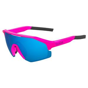 Lightshifter Tennis Sunglasses Matte Pink and Brown Blue