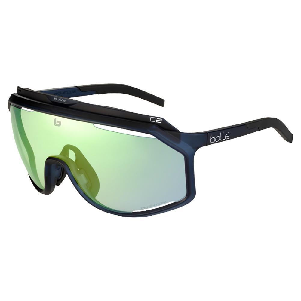 Chronoshield Performance Sunglasses Matte Crystal Navy And Phantom Clear Green
