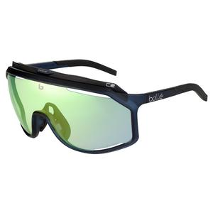 Chronoshield Performance Sunglasses Matte Crystal Navy and Phantom Clear Green