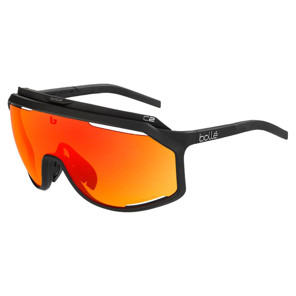 Chronoshield Performance Sunglasses Matte Black And Phantom Brown Red