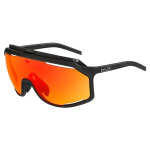 Chronoshield Performance Sunglasses Matte Black and Phantom Brown Red