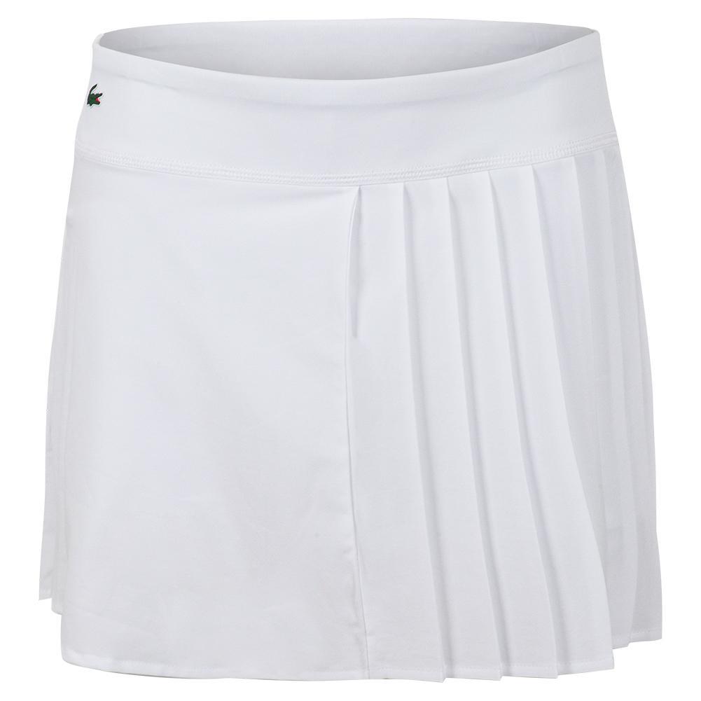 Women's Asymmetrical Pleated Tennis Skirt White