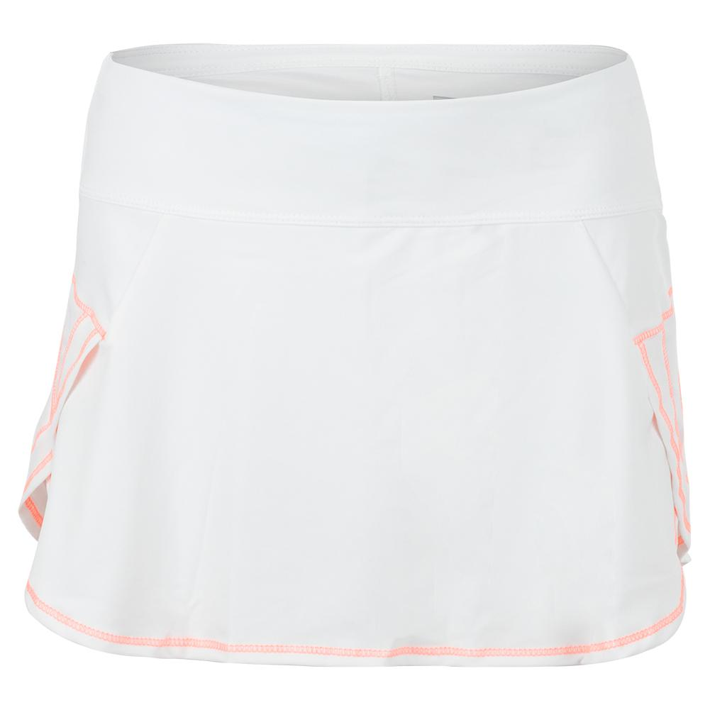 Women's Renew Pulse Tennis Skort White And Orange Frost