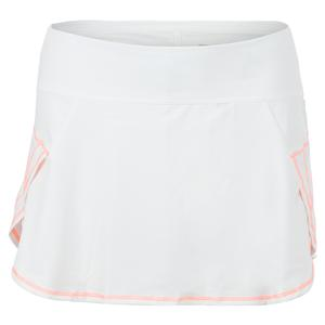 Women`s Renew Pulse Tennis Skort White and Orange Frost