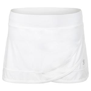 Women`s 12 Inch Tennis Skort White and Blanc